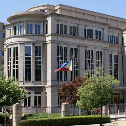 Philippine flag at DC embassy