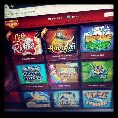Games at All Jackpots Online Casino
