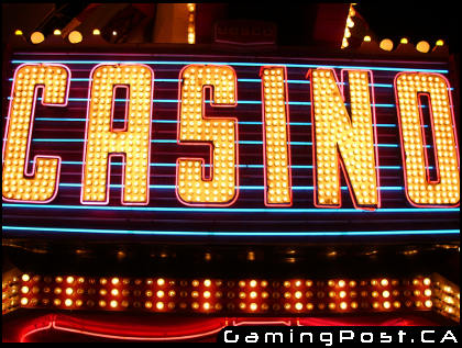 CASINO in electronic lights