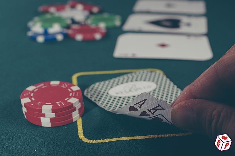 Sneak peek of poker cards