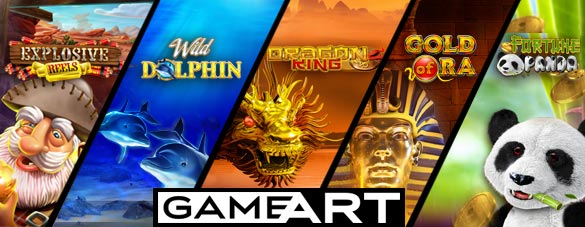 GameArt has introduced progressive jackpots to many of their slot games