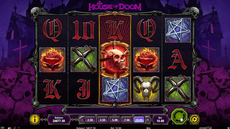 Candlemass and Play'n GO have partnered together to make House of Doom online slot.