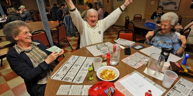 Gentleman winning bingo