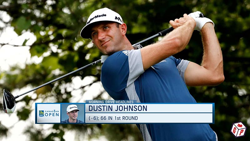 Dustin Johnson at the RBC Canadian Open