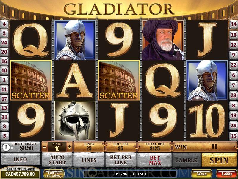 Playtech's video slot Gladiator