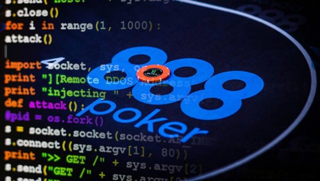 888poker has been the next victim to experience a DDoS attack
