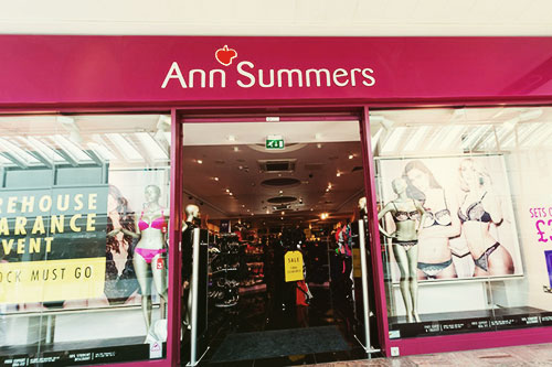 Ann Summers shop
