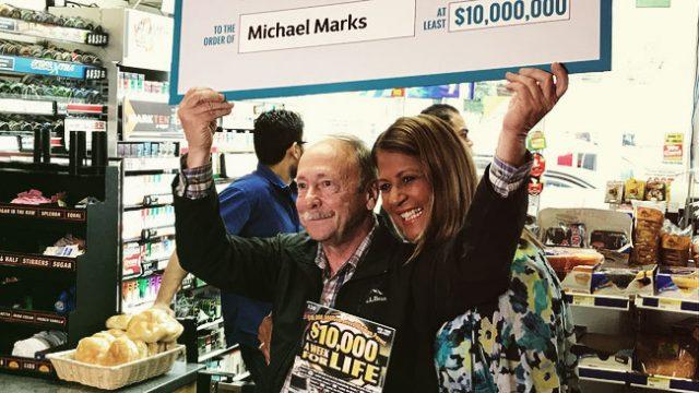Michael Marks won the $10 million lottery