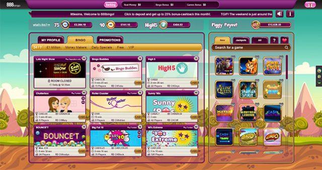 888bingo screen