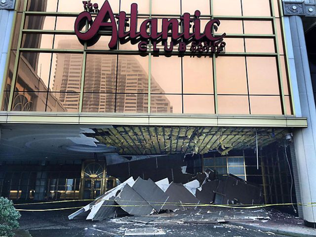 The old Atlantic Club Casino is falling apart