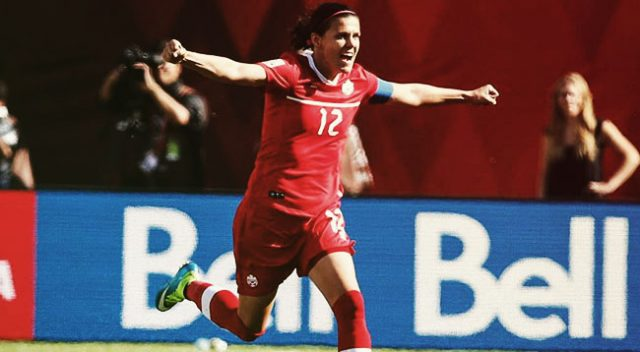 Christine Sinclair from Canada