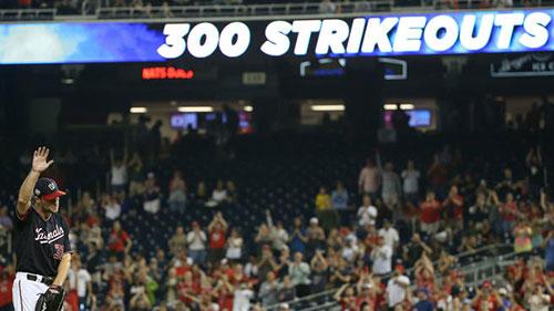 Scherzer reaches 300 strikeout