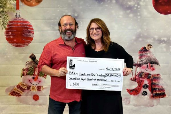 Louisiana Couple Score $1.8 Million Prize