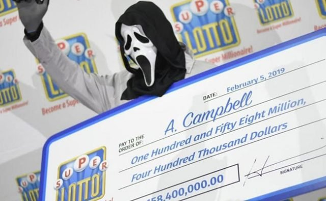 Lotto Winner Dons Scream Mask To Stay Anonymous