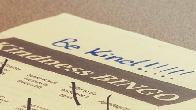 Students Take Up Kindness Bingo Challenge