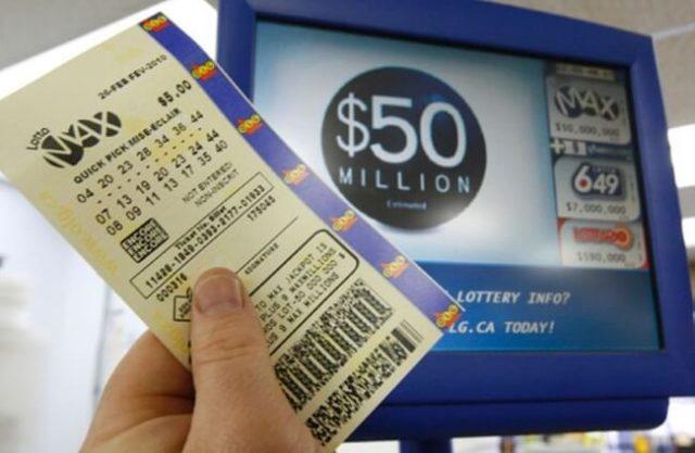 lotto max draw for $55 million