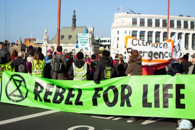 Extinction Rebellion block roads and bridges for their Climate Change Cause