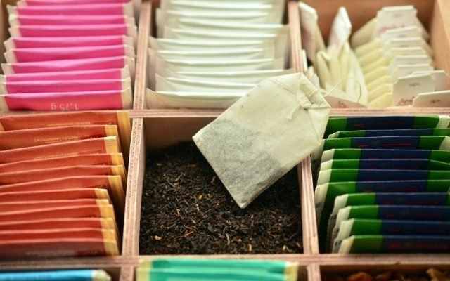 Fancy Tea Bags Filled With Micro Plastics
