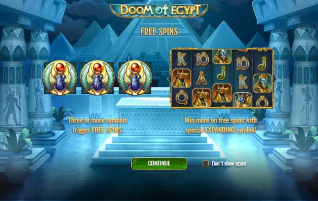 Play'n GO Unleashes Doom Of Egypt Slot