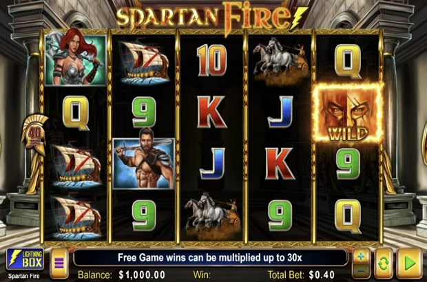 Lightning Box Stuns With Spartan Fire Slot