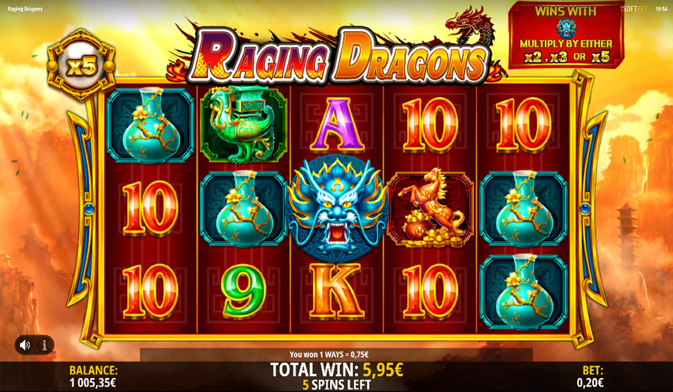 iSoftBet Announces New Raging Dragons Slot