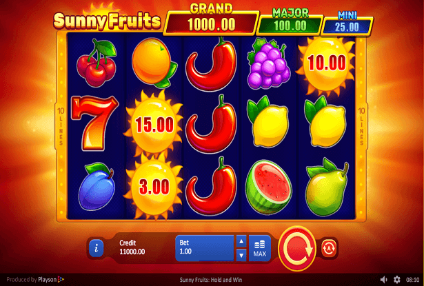 New Super Sunny Fruits Hold And Win Slot