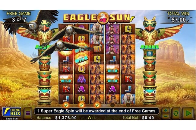 Lightning Box Is Back With New Eagle Sun Slot