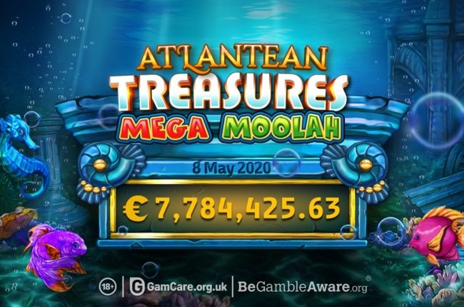 Mega Moolah Atlantean Treasures™ Jackpot Won